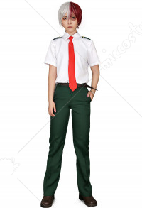 My Hero Academia Summer School Uniform Cosplay Costume for Men with Long Tie and Short Tie