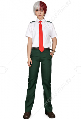 [Free US Economy Shipping] My Hero Academia Summer School Uniform Cosplay Costume for Men with Long Tie and Short Tie