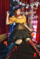 My Hero Academia Ochaco Uraraka Pumpkin Dress Halloween WitchCosplay Costume