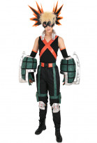 My Hero Academia Katsuki Bakugou Kacchan Cosplay Costume Fullset Hero Costume Battle Suit with Gauntlets