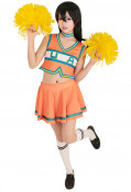 My Hero Academia Cheer Uniform Cheerleaders Cosplay Costume Dress with Cheerleading Poms