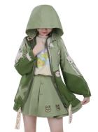 My Hero Academia Dinosaur Series Asui Tsuyu Cosplay Muraenosaurus Style Hooded Coat Jacket Full Set Cosplay Costume