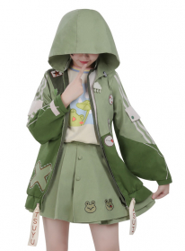 My Hero Academia Dinosaur Series Asui Tsuyu Cosplay Muraenosaurus Style Hooded Coat Jacket Full Set Cosplay Costume