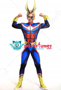 My Hero Academia All Might Toshinori Yagi Hero Suit Jumpsuit 3D Printed Bodysuit Cosplay Costume
