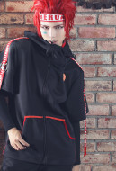 My Hero Academia Eijiro Kirishima Weekly Magazine Style Hooded Jacket Coat Cosplay Hoodie Cosplay Costume