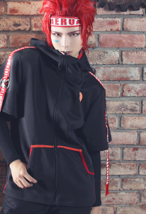 My Hero Academia Eijiro Kirishima Weekly Magazine Style Hooded Jacket Coat Cosplay Hoodie Cosplay Costume