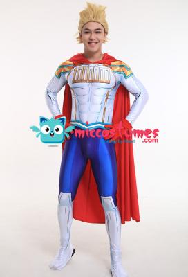 My Hero Academia Mirio Togata Hero Suit Bodysuit Jumpsuit Cosplay Costume with Cape