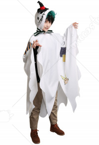 My Hero Academia Izuku Midoriya Deku Halloween Cloak Daily Mantle Ghost Cosplay Costume