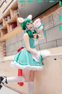My Hero Academia Cosplay Midoriya Izuku Cosplay Maid Costume