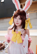 My Hero Academia Cosplay Uraraka Ochaco Cosplay Maid Costume