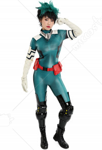 My Hero Academia Female Midoriya Izuku Deku Cosplay Costume Bodysuit Jumpsuit Gamma Battle Suit Fighting Suit