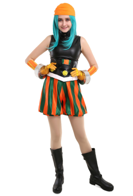 My Hero Academia Smile Hero Ms. Joke Emi Fukukado Cosplay Costume with Bandana