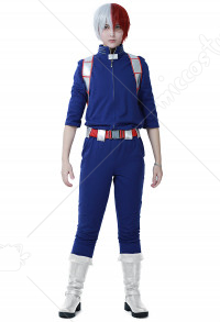 My Hero Academia Costume de Cosplay Shoto Todoroki Uniforme de Combat