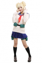 My Hero Academia League of Villains Himiko Toga Cosplay Costume JK School Uniform with Sweater