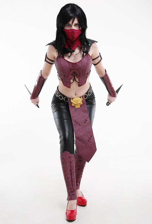 Mortal Kombat X Mileena Ninja Cosplay Kostüm Outfit