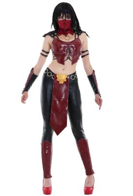 Mortal Kombat X Mileena Ninja Leotard Cosplay Costume Set with Mask