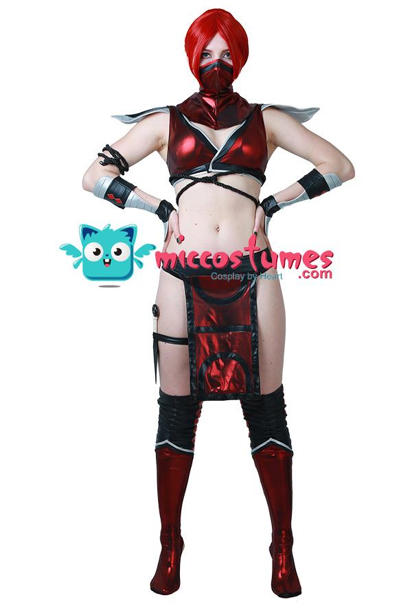 Mortal Kombat Skarlet Cosplay Kostüm