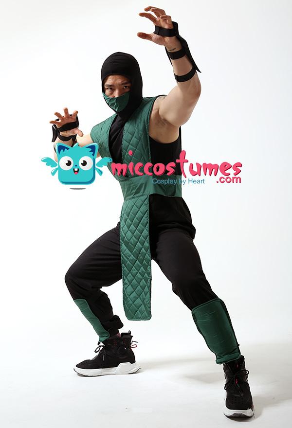 Mortal Kombat Reptile Cosplay Kostüm Grün Anzug