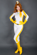 Kart 8 Princess Daisy Cosplay Costume Racing Suit Bodysuit
