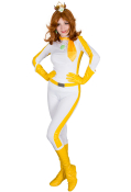Kart 8 Princess Daisy Cosplay Costume Racing Suit Bodysuit