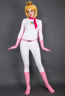 Kart 8 Princess Peach Cosplay Costume Racing Suit Bodysuit
