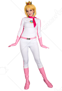 Kart 8 Princess Peach Cosplay Costume Racing Suit Bodysuit