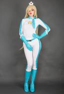 Kart 8 Rosalina Cosplay Costume Racing Suit Bodysuit