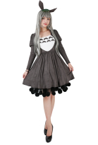 Ghibli My Neighbor Totoro Friends Costume Dress Including headdress and Tail