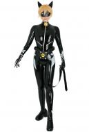 Agreste Black Cat Ice Power Cosplay Costume Catsuit Bodysuit with Cat Ears and Mask