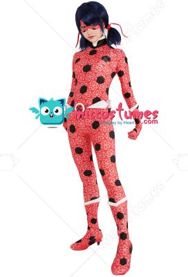 Adult Dupain Cheng Ladybug Ice Power Cosplay Costume Bodysuit