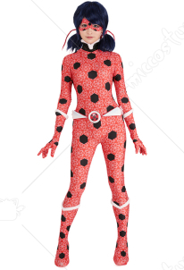 Adult Dupain Cheng Ladybug Ice Power Cosplay Costume Bodysuit