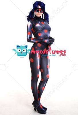 3D Printed Akumatized Ladybug Antibug Adult Cosplay Costume Bodysuit Jumpsuit with Mask