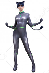 Lady Noire Dupain Cheng Cosplay Costume 3D Printed Bodysuit Jumpsuit Catsuit with Cat Ears and Mask