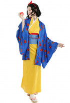 Miss Snow Kimono Dress for Halloween Women Princess Snow White Dress