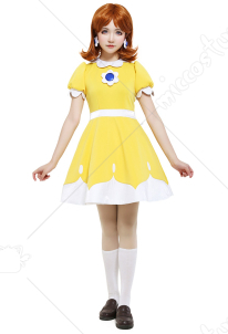 Tennis N64 Princess Daisy Cosplay Costume Dress