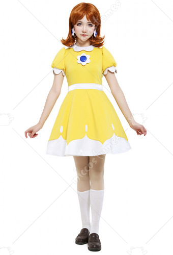 [Free US Economy Shipping] Tennis N64 Princess Daisy Cosplay Costume Dress
