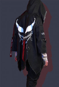 Super Hero Daily Dust Coat Cosplay Costume Inspired by Venom Movie