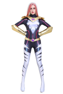 3D Printed Song Bird Melissa Cosplay Jumpsuit Bodysuit Costume Zentai with Gloves and Shoulder Armor