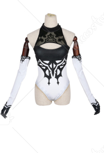 Nier: Automata YoRHa No.2 Type B 2B One-piece Backless Swimsuit Including Gloves and Eyeshade