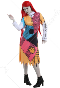 The Nightmare Before Christmas Sally Cosplay Costume Dress for Women