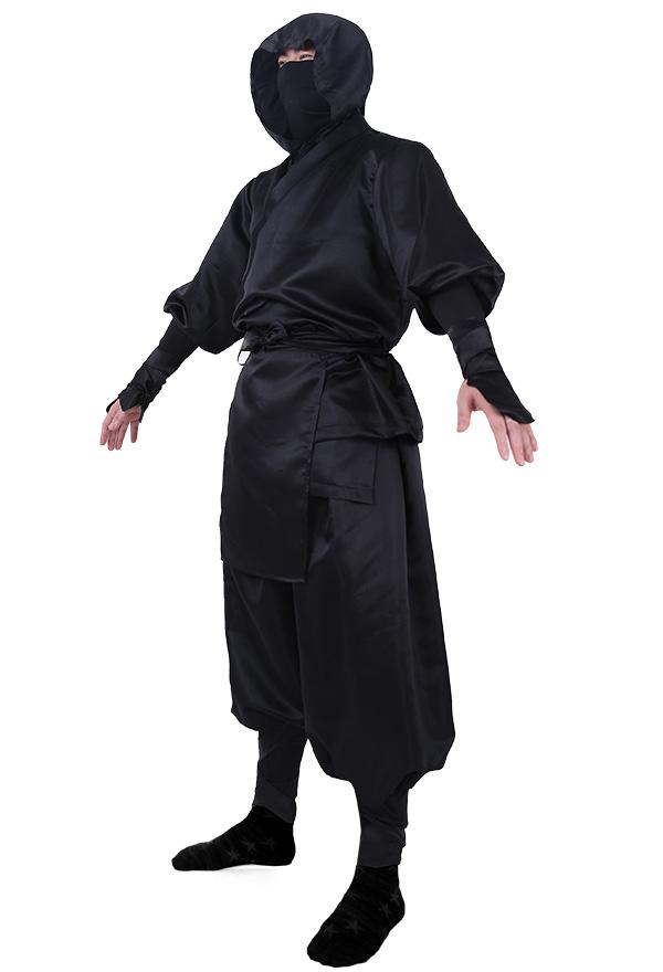 Japanisches Ninja Cosplay Kostüm für Erwachsene mit Kapuze