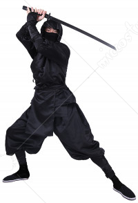 Japanese Ninja Bushido Cosplay Costume for Adults with Hood and socks