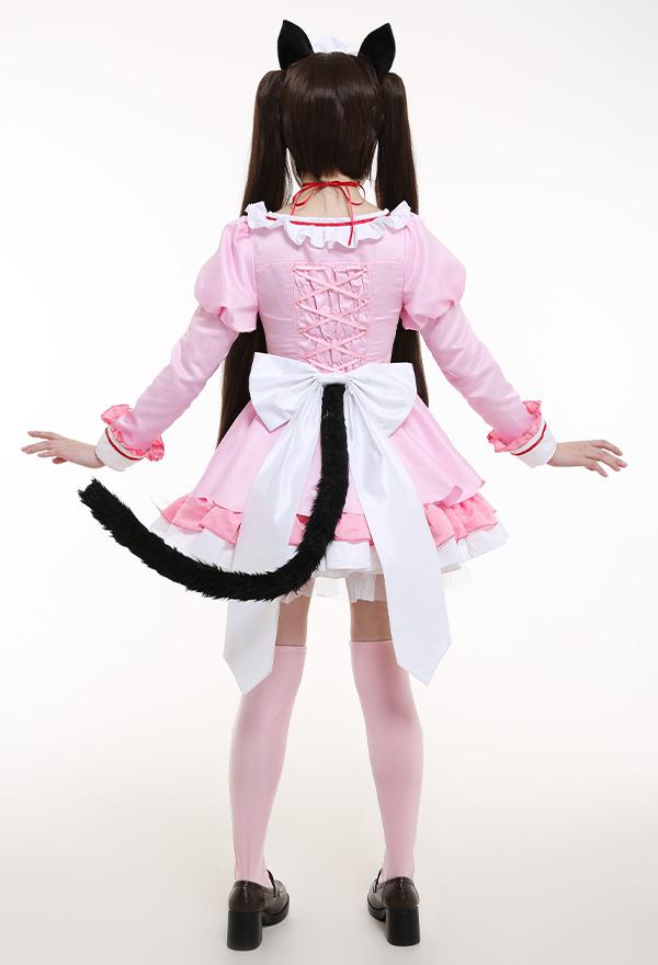 NEKOPARA Vol. 4 Chocola Maid Kleid Katzenmädchen Cosplay Kostüm