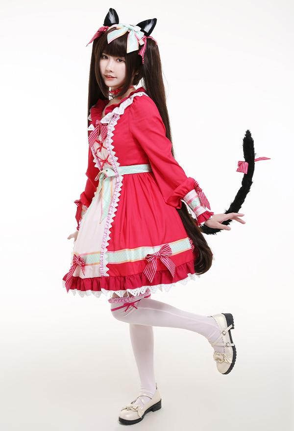 NEKOPARA Vol. 4 Chocola Prinzessin Kleid Lolita Cosplay Kostüm