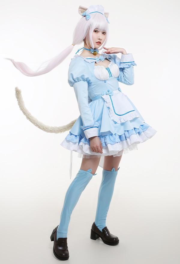 NEKOPARA Vol. 4 Vanilla Maid Kleid Katzenmädchen Cosplay Kostüm