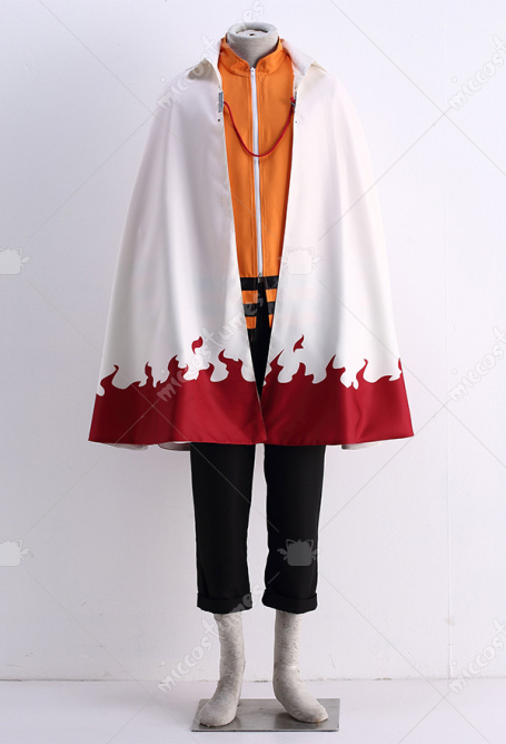 Naruto Uzumaki 11th Hokage Cosplay Cloak