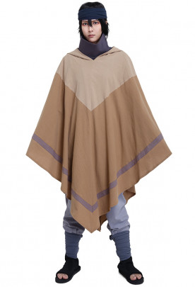 Naruto The Last Sasuke Uchiha Cosplay Costume with Cloak and Wraps