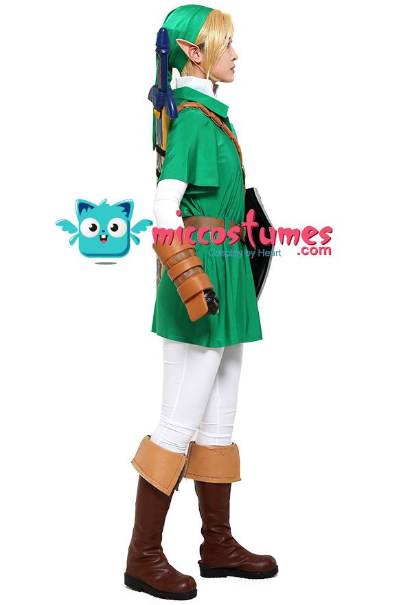 The Legend of Zelda Ocarina of Time Link Cosplay Kostüm