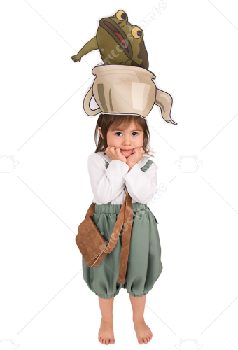 Child Over the Garden Wall Gregory Cosplay Costume for Kids with Hat and Pet frog