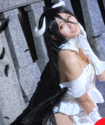 Overlord Albedo Cosplay Pure White Dress